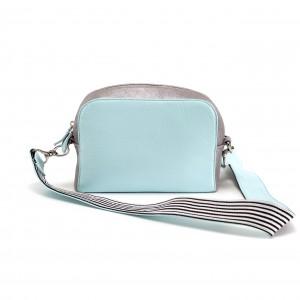 мятная и серебряная сумка